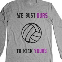 Volleyball Team Shirts-Unisex Heather Grey T-Shirt