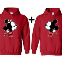 Cartoon Kissing Couple Hoodies Valentines Day Gift for Her Valentines Gift Boyfriend Girlfriend Girlfriend Gift Couple Hoodie Husband Wife