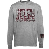 Majestic Texas A&M Aggies Stadium Spirit Long Sleeve T-Shirt - Ash