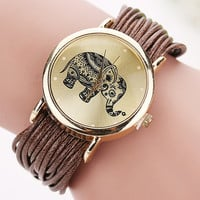 new Relojes Mujer Jewelry Fashion Women Dress Brand Elephant Design Bracelet Watch Montre Femme Quartz Watch Relogio Feminino