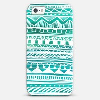 Turquoise Aztec Pattern iPhone 5s case by Organic Saturation   Casetagram
