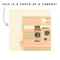 Polaroid camera photo, THIS IS A PHOTO, neutrals, modern home decor, hipster, pale pink - Pink Pola Love 8x8 photo