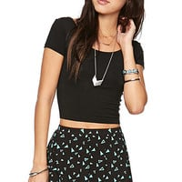 Nollie Scoop Back Pocket Crop T-Shirt at PacSun.com