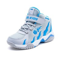 Basketball Shoes For Kids Summer Breathable Air Mesh Outdoor Trainers Wear-Resistant Sport Cheap Shoes Boys And Girls