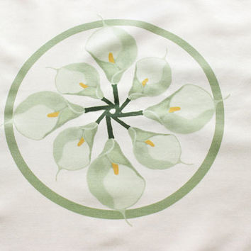 Personalized Calla Lily Fabric With Name and Date for Wedding Decorations, Centerpieces, Tablecoths, etc with custom color options available