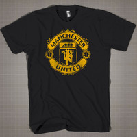 Manchester United Logo  Mens and Women T-Shirt Available Color Black And White