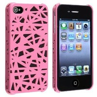eForCity Snap-on Case compatible with Apple® iPhone® 4 / 4S, Pink Bird Nest Rear: Cell Phones & Accessories