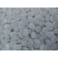 100pcs Hot Man-Made Glow in the Dark Pebbles Stone for Garden Walkway Sky Blue