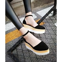 Women Sandals Ankle Straps Platform Shoes