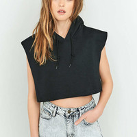 BDG Cropped Sleeveless 80s Hoodie - Urban Outfitters