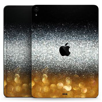 "Unfocused Silver Sparkle with Gold Orbs - Full Body Skin Decal for the Apple iPad Pro 12.9"", 11"", 10.5"", 9.7"", Air or Mini (All Models Available)"