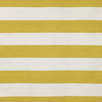 "Rugby Stripe Yellow 24"" x 36"" Indoor/Outdoor Flatweave Rug"