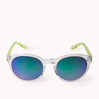 F0668 Standout Clear Round Sunglasses