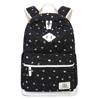 Girls bookbag kids blue printing canvas school backpack schoolbag 14 inch laptop computer bag girl bookbag backpacks for children school bags AT_52_3