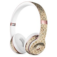 Overlapping Golden Shapes Pattern Full-Body Skin Kit for the Beats by Dre Solo 3 Wireless Headphones