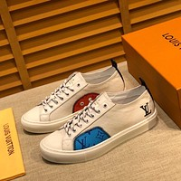 LV Louis Vuitton BEST QUALITY Men's Leather Tatoo Low Top Sneakers Shoes