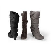 Brinley Co Womens Ring Accent Slouchy Boot