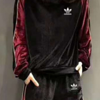 Adidas New gold velvet suit F-MLDWX
