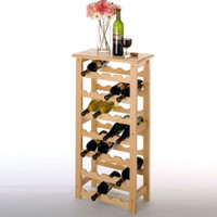 28-Bottle Wine Rack Traditional Dining Room Furniture Burnished Natural Finish