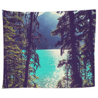 Lake Joffre Through the Trees Tapestry
