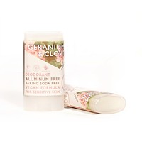 Geranium & Clove - Vegan & Sensitive Skin Travel Size Deodorant - .64 oz