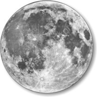 Moon from Space Round Mousepad