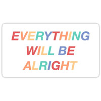 'everything will be alright - falsettos ' Sticker by whizzerloves