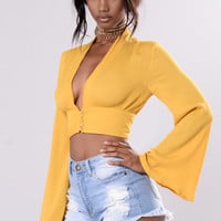Play the Part Top - Mustard
