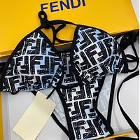Fendi casual split Brown swimsuit