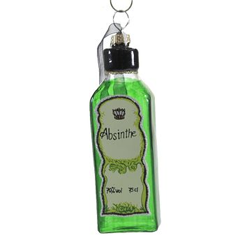 Holiday Ornament Bottle Of Absinthe Alcohol Berverage Ansie - GO3035