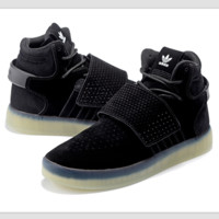 Adidas high tops crystal shoes sole boots Black