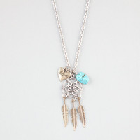 Full Tilt Dreamcatcher/Love Charm Necklace Metal One Size For Women 24356019101