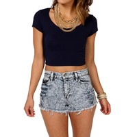 Eclipse Basic Short Sleeve Crop Tee
