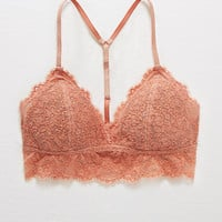 Aerie Padded Romantic Lace Bralette, Chestnut