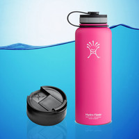 Hydro Flask 40 Oz Insulated Stainless Steel Water Bottle Pink + Hydro Flip Cap