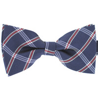 Tok Tok Designs Pre-Tied Bow Tie for Men & Teenagers (B305, Navy Blue)