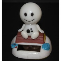 """Be Happy"" Solar Powered Happy Face Toy"
