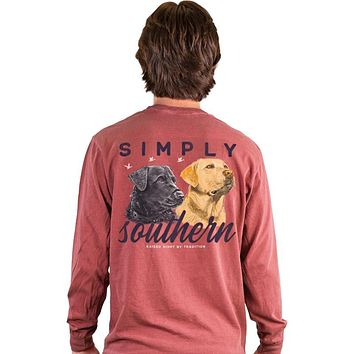 Simply Southern Lab Dogs Unisex Comfort Colors Long Sleeve T-Shirt