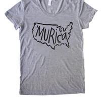 Murica Womens Fourth of July Shirt, 4th of july tee, fourth of july mama and me shirt, matching fourth of july shirt, merica shirt