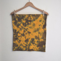 Tie Dye Stretch Knit Mini Skirt or Tube Top in Marigold by SewRed