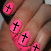 Black CrossNail Art Decals Nail Stickers