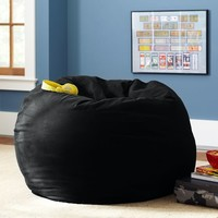 Black Washed Twill Beanbag