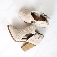 Not Rated - Nara cutout western inspired booties - Cream