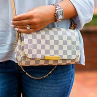 Onewel LV Bag Small Rectangle Louis Vuitton Chain Shoulder Bag Bag Trending Bag White Tartan