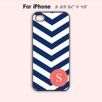 Personalized INITIALS,Navy Chevron,iPhone 5 case,iPhone 5C Case,iPhone 5S Case, Phone case,iPhone 4 Case, iPhone 4S Case