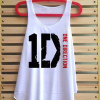 1D shirt one direction tank top singlet clothing vest tee tunic - size S M