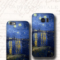Starry Night iphone 6s case van Gogh Galaxy S7 case Samsung Galaxy Note 5 case iPhone 6s plus iPhone 5s case Samsung Galaxy S6 case Note 4