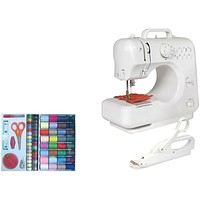 Lil Sew & Sew Desktop 8-stitch Sewing Machine (with Sewing Kit & Electric Scissors)