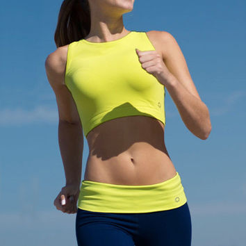Be Legendary Fit Crop Top - Chartreuse