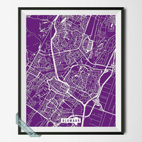 Alkamaar Print, Netherlands Poster, Alkamaar Street Map, Netherlands Map Print, The Netherlands, Modern Decor, Street Map, Back To School